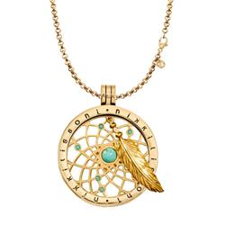 Dreamcatcher Dangle Gold Necklace