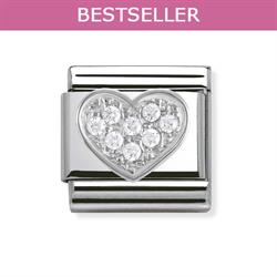 Nomination SilverShine CZ Heart Charm
