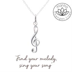 Treble Clef Charity Necklace