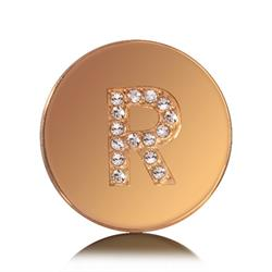 Letter R Small Gold Coin
