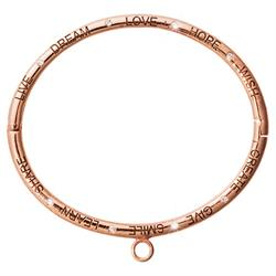 Rose Gold Good Vibes Bangle Medium