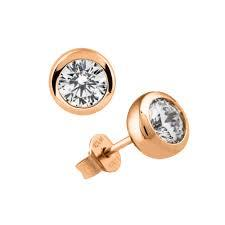 Rose Gold 1ct Earrings