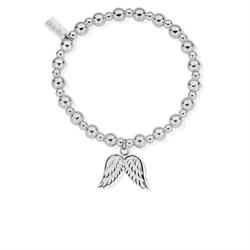 Mini Small Ball Double Angel Wing Bracelet