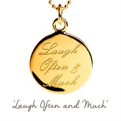 Laugh Often and Much Mantra Necklace in Gold