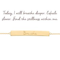 Mantra Jewellery Breathe Bar Bracelet in Gold