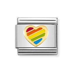 Nomination Enamel Rainbow Heart Charm