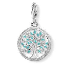 Turquoise Tree of Love Charm by Thomas Sabo