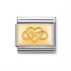 nomination gold us heart charm