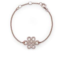 Rose Gold Love Knot Adjustable Bracelet