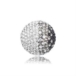 Black and White Crystal Sound Ball Medium