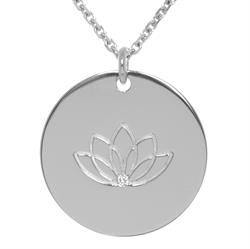 CZ Lotus Personalised Necklace 80cm