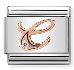 Buy Nomination Rose Gold CZ Letter C