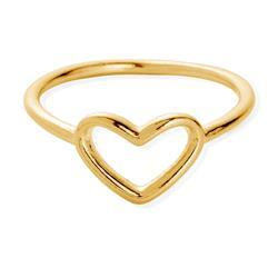 Gold Open Heart Midi Ring (Medium)