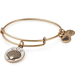 Sea Shell Colour Infusion Bangle in Rafaelian Gold