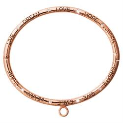 Outlet Nikki Lissoni Rose Gold Good Vibes Bangle Small