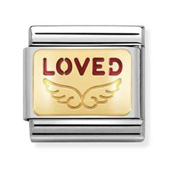 Nomination Gold Loved Wings Charm