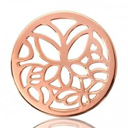 Rose Gold Butterfly Coin 33mm