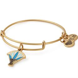 Blue Lotus Bangle in Rafaelian Gold