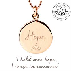 Hope NHS Charities Together, Charity Necklace in Rose Gold