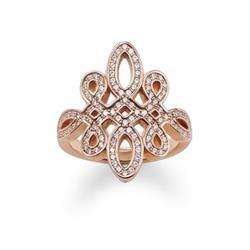 Thomas Sabo GLAM & SOUL Rose Gold Love Knot Ring Size 52 Outlet