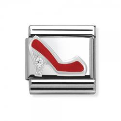 Red Enamel CZ Shoe