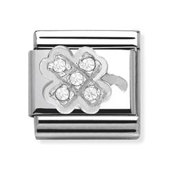 Buy Nomination Silver CZ Clover