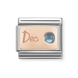 Rose Gold December Topaz Charm