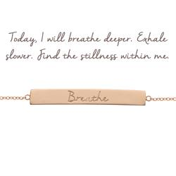 Mantra Jewellery Breathe Bar Bracelet in Rose Gold