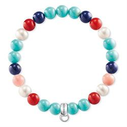Pearl Turquoise Coral Jasper S Charm Club Bracelet
