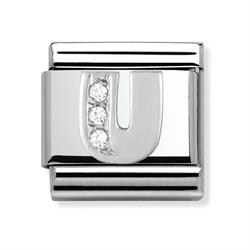Buy Nomination Silver CZ Letter U