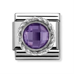 Buy Nomination Silver Purple Round CZ