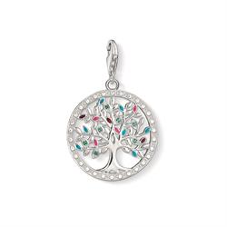 Silver Multi-CZ Tree of Life Charm