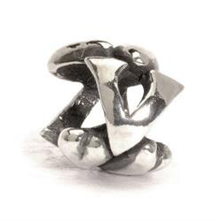Outlet Trollbeads Letter V Silver Charm Bead