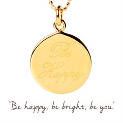 Buy Be Happy Mantra Necklace in Gold