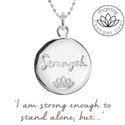 Strength MIND, Charity Necklace in Sterling Silver