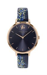 Wisteria Watch, Rose Gold and Navy
