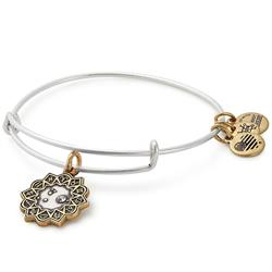 Aries Two Tone Zodiac Bangle