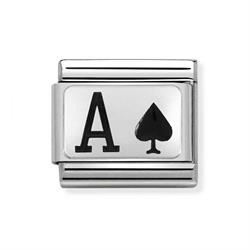 Silver and Enamel Ace of Spades