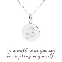 B Mantra Initial Necklace