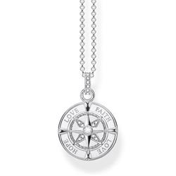 Sterling Silver Love Compass Necklace
