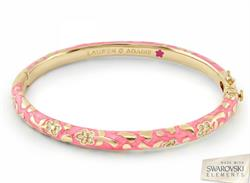 Lauren G Adams Flowers by Orly Magenta Swarovski Bangle Small
