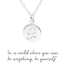 R Mantra Initial Necklace