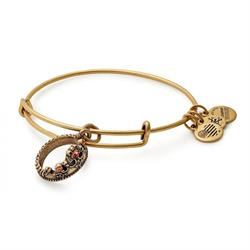 Queen's Crown bangle in Rafaelian Gold Finish