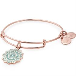 Alex and Ani Heart Chakra Bangle in Shiny Rose Gold