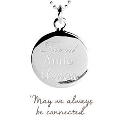 Buy Friend, Amie, Amica Mantra Necklace in Silver