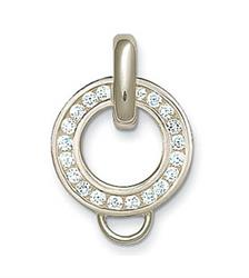 Necklace Charm Carrier with Cubic Zirconia