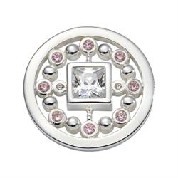 Silver and Pink Mirror Coin 23mm by Nikki Lissoni