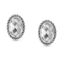 Nomination Silver Oval Clear CZ Studs