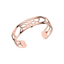 Slim Rose Gold Nenuphar Cuff Bangle