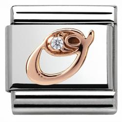 Buy Nomination Rose Gold CZ Letter O